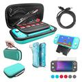 MAKACTUA 12 in 1 Accessories Kit for Nintendo Switch Lite,NIntendo Switch Bundle with Comfort Grip Case,Soft TPU Protective Cover Case,Screen Protector,USB Cable,Adjust Play Stand,Thumb Grip