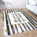 Small Area Rug,Shorping Kids Area Rugs Holiday Décor Area Rug 2X3 Ft Area Rug Pad Do More What Make You Happy Motivational Quote Card Gold Glitter Dots Black Indoor Area Rug Living Room Area Rugs