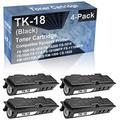 4-Pack Compatible High Capacity TK18 (TK-18) Toner Cartridge use for Kyocera FS-1000 FS-1010 FS-1020D FS-1018 (Black)