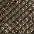 Free People Jewelry | Fp Bronze Swarovski Crystal & Sterling Choker | Color: Brown/Cream | Size: Os