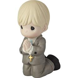 Precious Moments 202016 Remembrance of My First Communion Boy Bisque Porcelain Figurine, One Size, Multicolored
