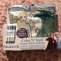 Disney Accessories | Disney Frozen Ii Sequin Purse | Color: Blue/Silver | Size: Osg