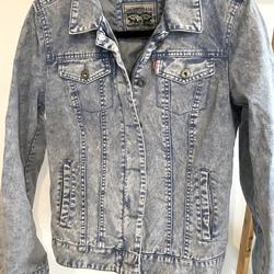 Levi's Jackets & Coats   Levis Acid Wash Denim Jacket   Color: Blue   Size: M