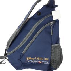 Disney Bags | Nwt Disney Cruise Castaway Shoulder Backpack Bag | Color: Blue/Gray | Size: Os