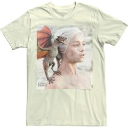 Men's Game Of Thrones Daenerys Mother Of Dragons Portrait Tee, Size: Large, Natural