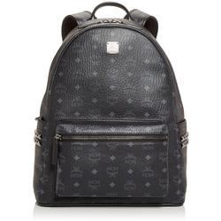 Stark Logo Monogram Backpack - Black - MCM Backpacks