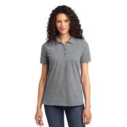 Port & Company LKP155 Women's Core Blend Pique Polo Shirt in Heather size Medium | Cotton/Polyester