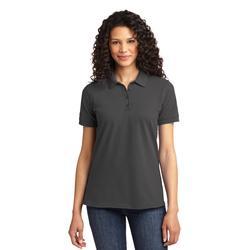 Port & Company LKP155 Women's Core Blend Pique Polo Shirt in Charcoal size 2XL   Cotton