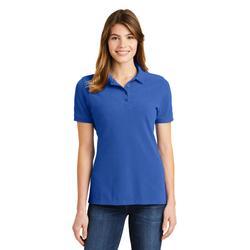 Port & Company LKP1500 Women's Combed Ring Spun Pique Polo Shirt in Royal Blue size Medium | Cotton