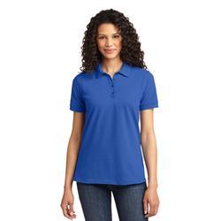 Port & Company LKP155 Women's Core Blend Pique Polo Shirt in Royal Blue size 4XL   Polyester