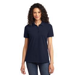 Port & Company LKP155 Women's Core Blend Pique Polo Shirt in Deep Navy Blue size 3XL   Cotton
