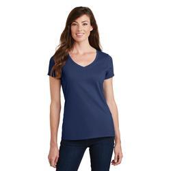 Port & Company LPC450V Women's Fan Favorite V-Neck Top in Team Navy Blue size 4XL   Cotton Polyester