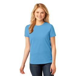 Port & Company LPC54 Women's Core Cotton Top in Aquatic Blue size 4XL   Blend