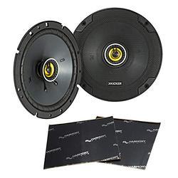 "Kicker Bundle 46CSC674 6-3/4"" Coaxial Full Range Stereo Speakers Pair with Harmony Audio Sound Dampening Speaker Kit"