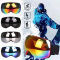 Spencer Professional Ski Goggles Over Glasses Ski Snowboard Goggles for Men Women & Youth Anti-Fog UV Protection (Red)