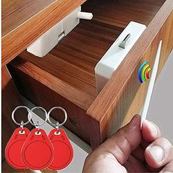 Electronic Cabinet Lock,Hidden Electronic Cabinet DIY/RFID Lock Electronic Induction Lock, Invisible Cabinet Lock,Used for Wooden Cabinet Drawer Cabinet Wardrobe Letter Box