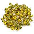 Rhinestone for Crafts DONGZHOU 82 pcs sew on Crystal Rhinestones Light Topaz Yellow Sewing Crystal Glass Claw Setting Stone for DIY Jewelry hat Clothes Mask Wedding Dress Decoration