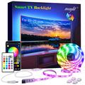 maylit Led Strip Lights Bluetooth 14.3ft for 65-75in Tv, USB Led Tv Backlight Kit with App and Remote Control - Full Color 5050 LEDs Bias Lighting for HDTV