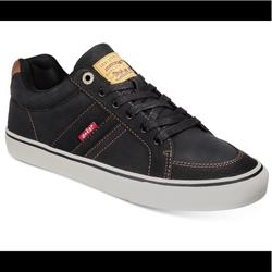 Levi's Shoes | Levis Menss Turner Tumbled Waxed Sneakers | Color: Black | Size: Various
