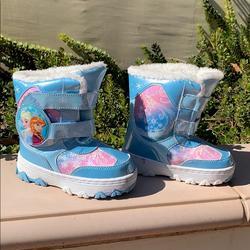 Disney Shoes   Disney Frozen Toddler Girls Snow Boots Elsa Anna   Color: Blue/White   Size: 10g