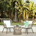 George Oliver Strine 3 - Piece Wicker Seating Group w/ CushionsWicker/Rattan | Wayfair SKY4644