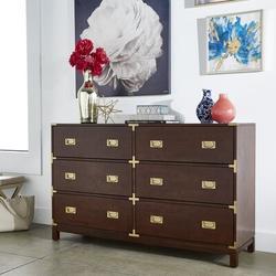 Birch Lane™ Dania 6 Drawer Double DresserWood in Gray, Size 37.0 H x 59.75 W x 18.0 D in | Wayfair B57C336AFA174B65B332ADF4A5F42022