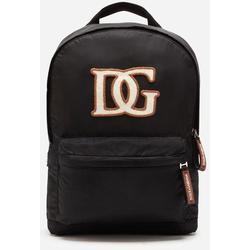 Nylon Backpack With Dg Patch - Black - Dolce & Gabbana Backpacks