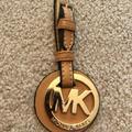 Michael Kors Accessories | Michael Kors Tan Gold Purse Hook Accessory New | Color: Gold/Tan | Size: Os