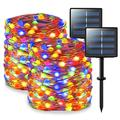 JMEXSUSS 200 LED Solar Fairy Lights Outdoor Waterproof Super Bright Multicolor Solar String Lights 2 Pack 66ft Copper Wire Lights for Christmas Tree Garden Patio Yard Party Wedding Decoration