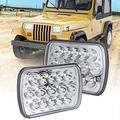 H6054 LED Headlights, Sakeye 2PCS Rectangle 7x6 LED Headlights Pair 5x7 LED Headlights 6054 H5054 Headlamp Hi/Low Sealed Beam for Chevy Blazer Express Van/Jeep Wrangler YJ XJ Cherokee Truck Ford Van