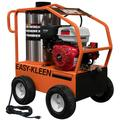 COMMERCIAL HOT WATER GAS PRESSURE WASHER, 15 HP ELECTRIC START LIFAN, 3.5 GPM @ 4000 PSI, 120 VOLT OIL FIRED BURNER, 350000 BTU