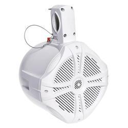 "Power Acoustik MWT-65W 500W 6-1/2"" Marine Grade Wake Tower Speaker Enclosure - White"