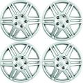 Custom Accessories 96907 16-Inch ABS Spider Painted Wheel Covers, Silver, 4-Piece Set, 1 Pack