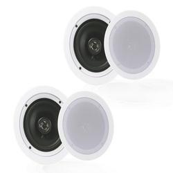 """""""PYLE PDIC1651RD - 5.25"""""""" In-Wall / In-Ceiling Speakers, 2-Way Flush Mount Home Speaker Pair, 150 Watt"""""""