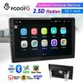 """""""Android 6.0 2 Din GPS Car Stereo Radio 10.1"""""""" HD 1080P 2.5D Tempered Glass Mirror Car MP5 Player with Bluetooth WIFI GPS Radio Receiver Suppport Rear Camera with 4 LED Camera"""""""