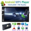 """2din Andriod 8.1 Car Multimedia Player GPS Navigation Bluetooth Car Audio Wifi USB FM MirrorLink 7"""" HD 2Din Car Audio Radio Stereo Autoradio + 12 LED Camera"""