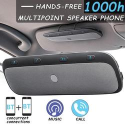 Hands Free bluetooth Car Speakerphone Sun Visor Kit,Wireless Multipoint Hands-free Speakerphone Receiver Devices With Iron Holder - for iphone, Smartphones
