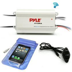 Pyle PLMRMB4CW Waterproof Bluetooth 800 W 4 Channel Marine Power Audio Amplifier