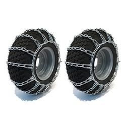 the rop shop 2 link tire chains 23x9.50-12 23x950x12 for tractor lawn mower rider snowblower