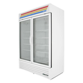 """True GDM-49F-HC~TSL01 54"""" Two-Section Display Freezer w/ Swinging Doors - Bottom Mount Compressor, White, 115/208-230v"""