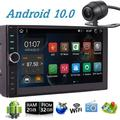 Double Din Car Stereo 2 DIN Car Stereo with Bluetooth 7 Inch Android 10.0 Car Radio In Dash Android Head Unit Autoradio Support GPS Navigation/Mirror Link/WiFi/Colorful Button/Backup Camera