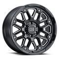 """20"""" Black With Natural Accents Black Rhino Hollister Wheel by Black Rhino Wheels 2095HSR126135B87"""