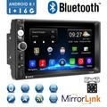 """""""Android 8.1 2 Din GPS Car Stereo Radio7"""""""" HD 1080P Car Player with Bluetooth WIFI GPS FM Radio Receiver Suppport Rear Camera ,1G RAM +16G ROM ,with 8 IR Camera"""""""