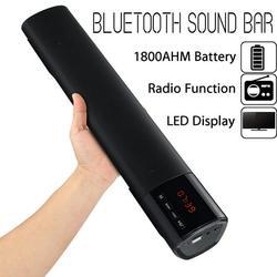 10W 1200mAh Wireless bluetooth Stereo Soundbar HIFI Speaker Home Theater Audio FM Radio LED Display Subwoofer Suport FM/TF/USB/AUX