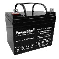 PowerStar 12 Volt 35Ah Deep Cycle Battery NP12-35Ah for Camping, Solar Power Storage, Emergency Backup