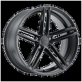"""17"""" Inch 5x112 Wheel Rim TSW CHAPELLE 17x8 +42mm BLACK"""