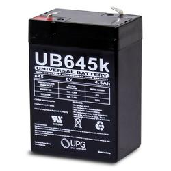 SLA4-6 6 Volt 4.5 AmpH SLA Replacement Battery with F1 Terminal