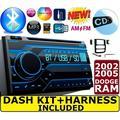 02 03 04 05 RAM BLUETOOTH CAR STEREO RADIO DOUBLE DIN INSTALLATION DASH KIT