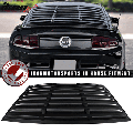 Ikon Motorsports Compatible with 05-14 Ford Mustang GT V6 V8 Rear Window Louver Sun Shade Cover Windshield Vent Matte Black ABS 2005 2006 2007 2008 2009 2010 2011 2012 2013 2014