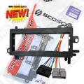CJ1282B Single Din Radio Install Kit & Wires for Dodge, Car Stereo Dash Mount